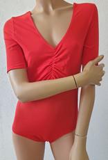 Sakkara Body mit Netz in rot, Grösse S
