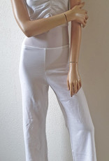 Belly dance catsuit sleeveless white 3XL