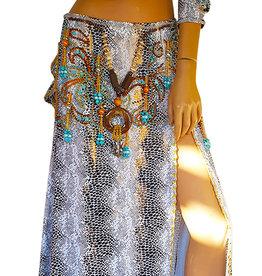 Sakkara Kostüm 'Sara' in weiß / Reptilprint