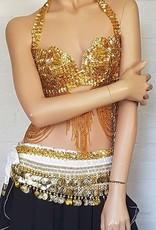Belly dance bra Dalal in gold