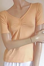 Yoga-Shirt Peach Chitraa, Halbarm