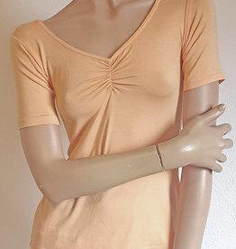 Yoga-Shirt Peach, Halbarm -