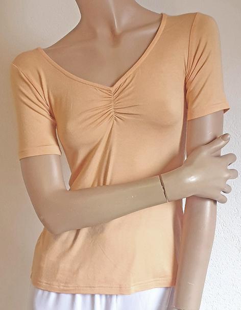 Yoga shirt short sleeve peach
