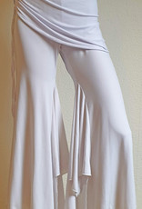 Attraktive, elastische Bauchtanzhose in weiss