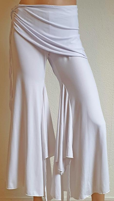 White  bell bottom belly dance pants