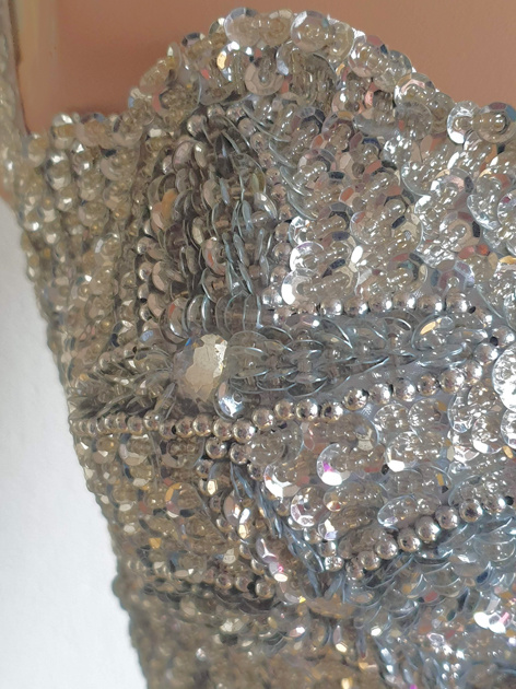 Belly dance bra Dalal in silver