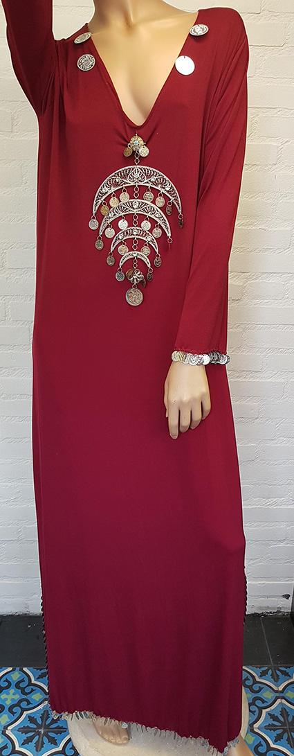 Sakkara Saidi-Kleid in bordeaux oder fuchsia