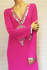 Saidi dress in bordeaux or fuchsia