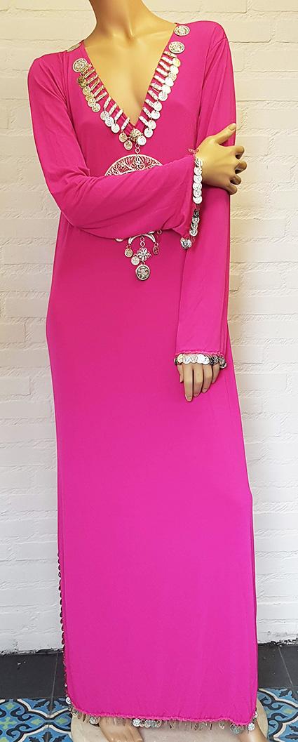 Saidi-Kleid in bordeaux oder fuchsia