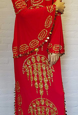 Saidi-Kleid in rot/gold