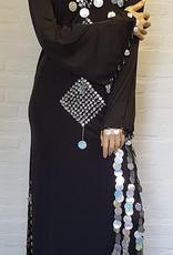 Saidi dress in black/silver