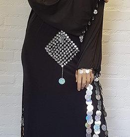 Sakkara Saidi-Kleid in schwarz/silber