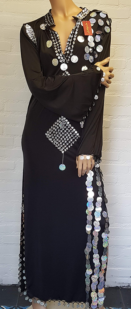 Saidi-Kleid in schwarz/silber