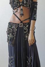 Beautiful designer belly dance costume black