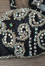 Belly dance costume in black/silver