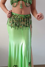 Bellydance costume bright green