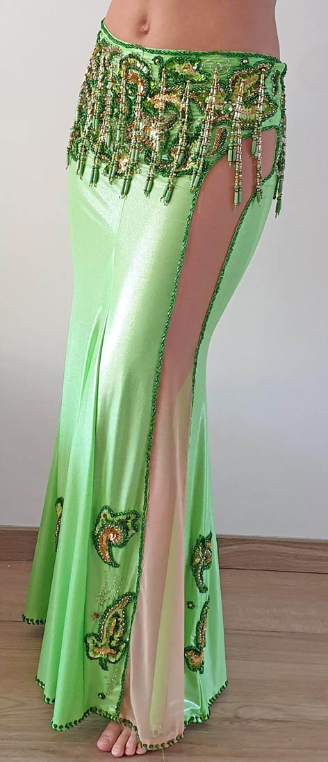 Bauchtanzkostüm hellgrün