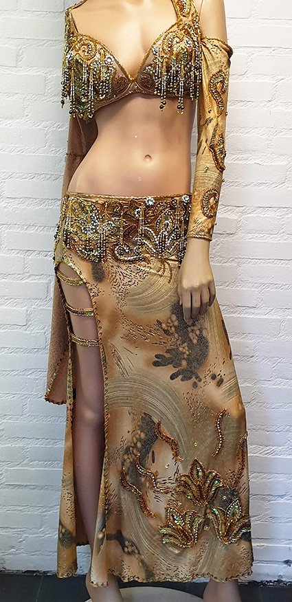 Belly dance costume in animal-print