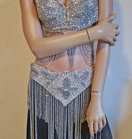 Bellydance Costume Dalal in silver