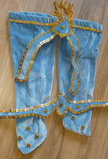 Belly dance costume Noura - lightblue velvet
