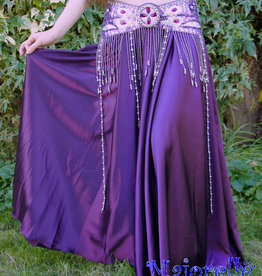 Satin skirt in purple