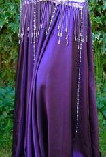 Satin skirt in purple