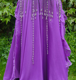 Belly dance skirt purple