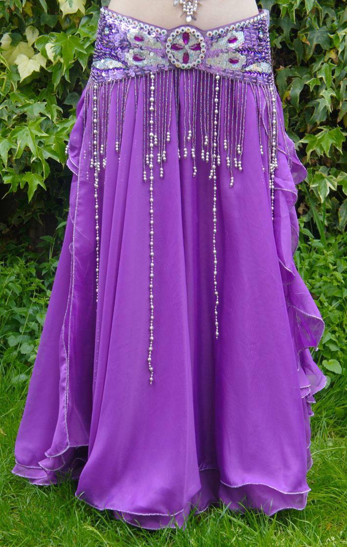Belly dance skirt purple