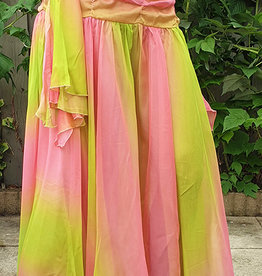 Chiffon skirt with gradient colours
