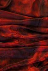 Sehr schöne Schleier in Seiden Schleier in rot / schwarz