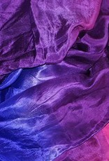 Silk belly dance veil orange fuchsia purple blue turquoise