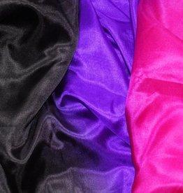 Bauchtanzschleier aus Seide in schwarz, lila, fuchsia