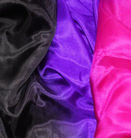 Silk belly dance veil in black purple fuchsia