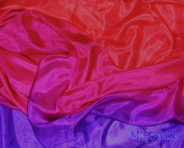 Silk veil in red purple fuchsia