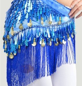 Hüfttuch mit schöne Pailletten in blau