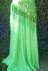 Green hip scarf with teardrop sequins