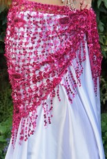 New; Hip scarf with sequins