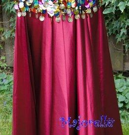 Bordeaux satin skirt