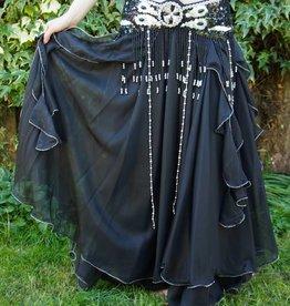 Belly dance skirt black