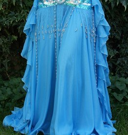 Belly dance skirt in turquoise