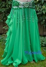 Belly dance chiffon skirt green,