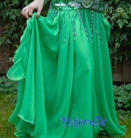Belly dance skirt green