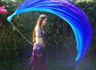 Poi  / voi with silk veil
