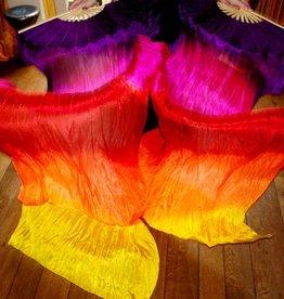 Fächerschleier / Fan-Schleier aus Seide in schönen hellen Farben