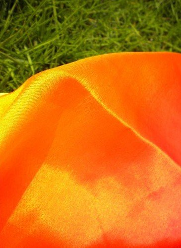 Silk belly dance veil red orange veil