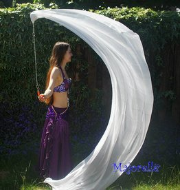 Silk belly dance poi / voi white