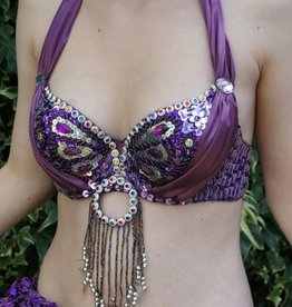 "Bra ""peacock"" in purple"
