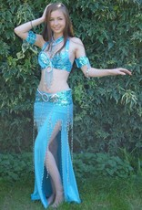 Bauchtanz-Kostüm Soraya in türkis