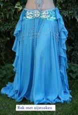 "Belly dance costume ""Soraya"" in turquoise"