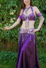 Bauchtanz-Kostüm Aisha in lila